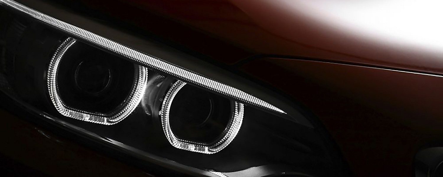 Close Up of an Automobile Head Lamp