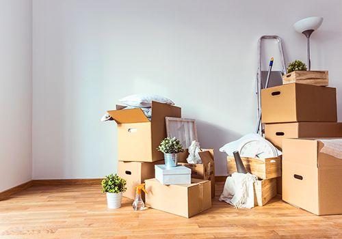 Vacuuming a room
