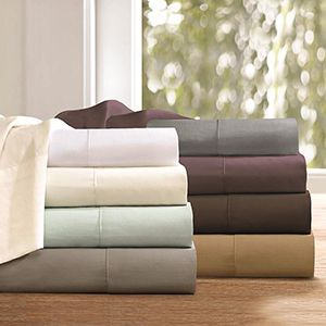 Various Bedding Sheets Stacked