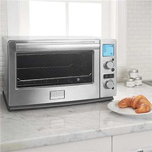 Toaster oven and croissant