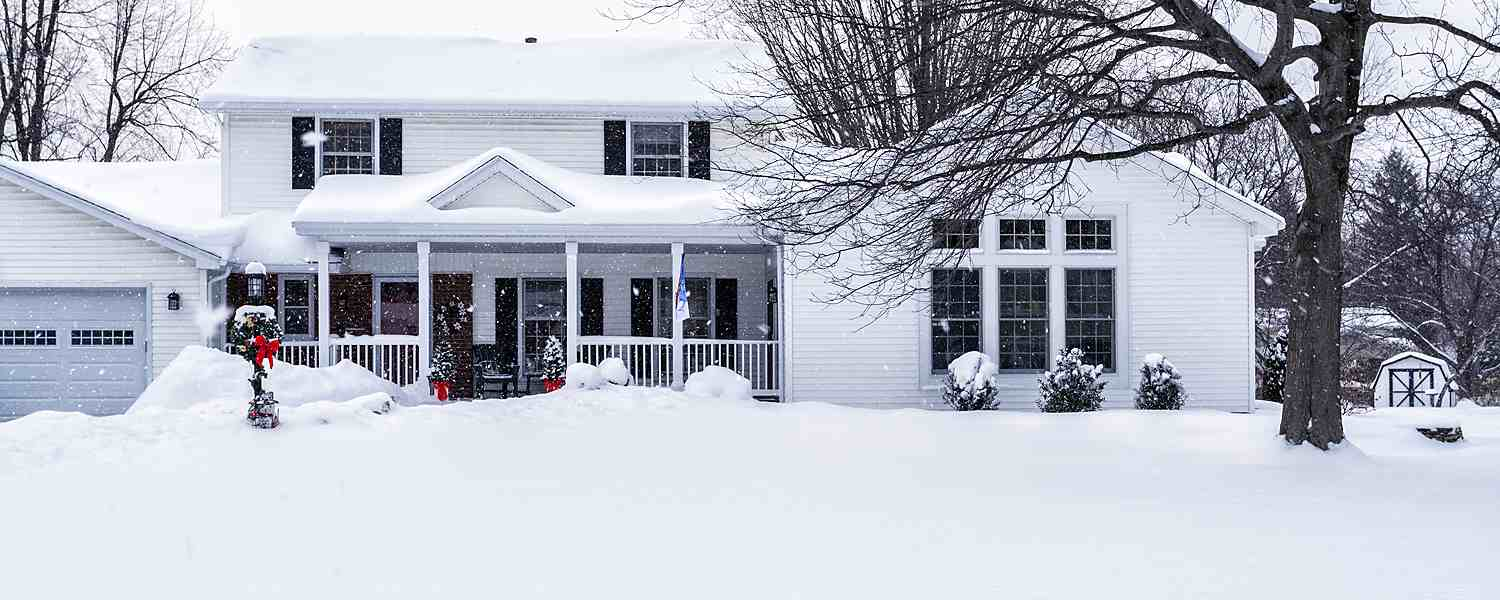 Snowy Home and Garage