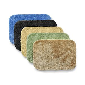 Several Brightly Colored Bath Mats