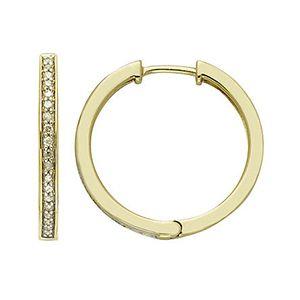 1/4 CTTW Diamond Prong Hoop Earrings.