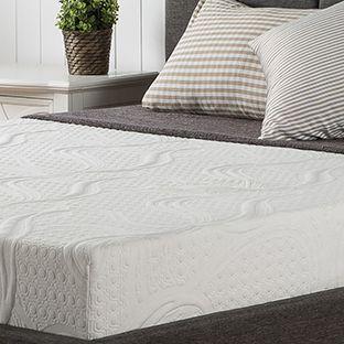 Unmade memory foam mattress