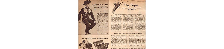 Kids' cowboy denim in the 1957 Sears Christmas Book