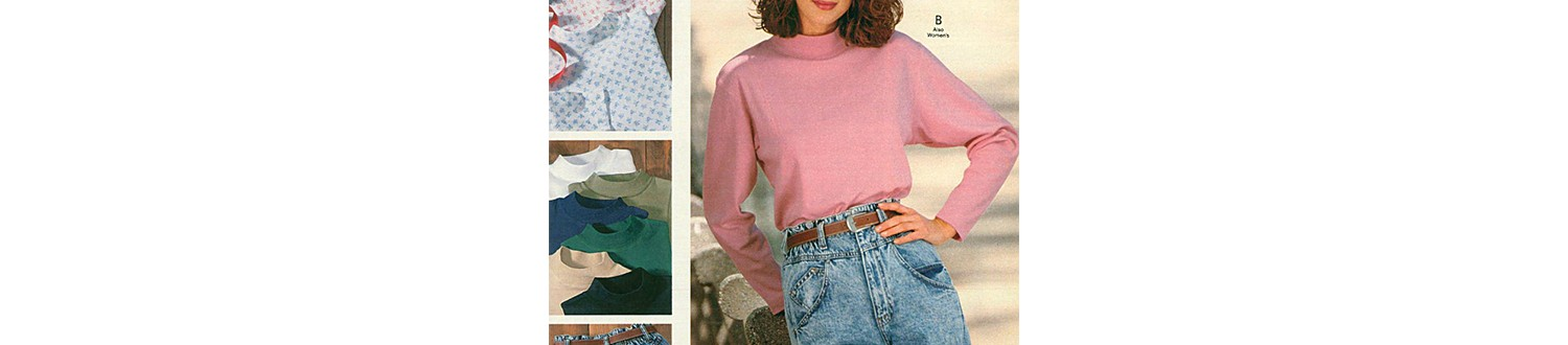 Euro-chic jeans in the 1989 Sears Wish Book