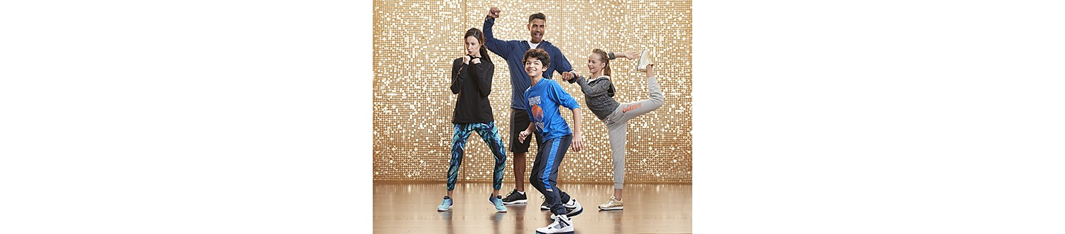 Family in fitness gear in 2017 Sears Wish Book