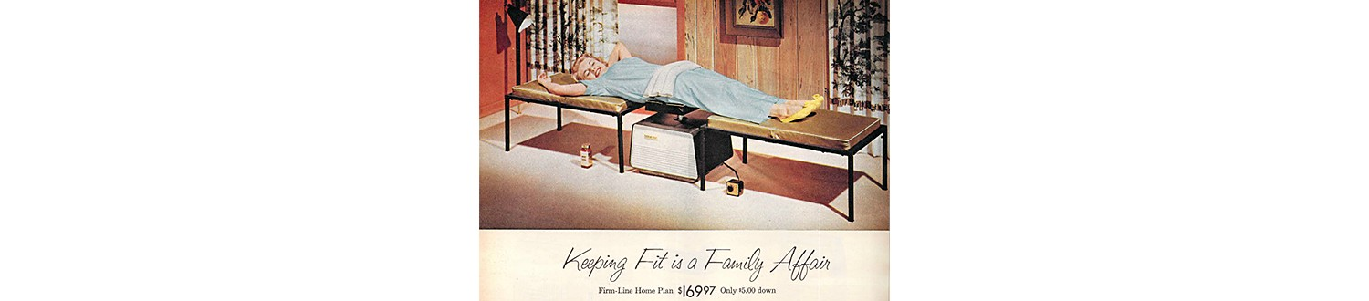 Firm-Line Home Plan Table in the 1959 Sears Christmas Book