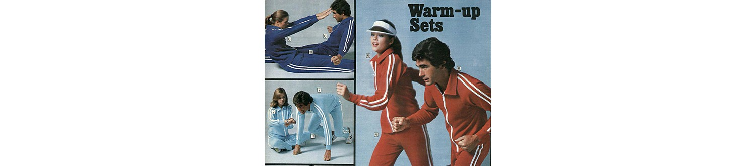 Couples' workout gear in 1977 Sears Wish Book