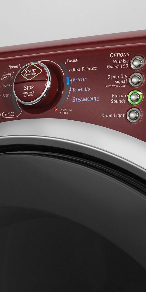 Controls on a Kenmore Elite dryer