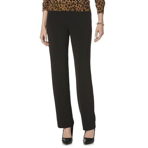 Woman in Jaclyn Smith Women's Microfiber Pants