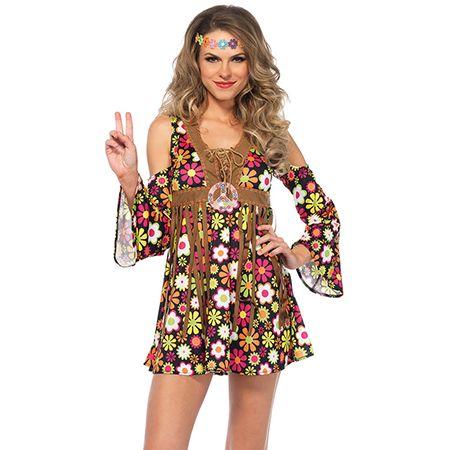 Woman in a Hippie Starflower Costume