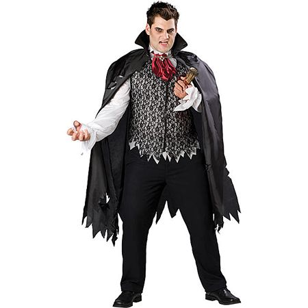 Man in a Vampire Slayed Costume