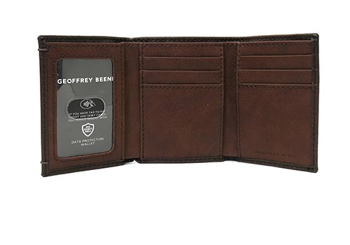 Geoffrey Bean Tri-Fold Leather Wallet