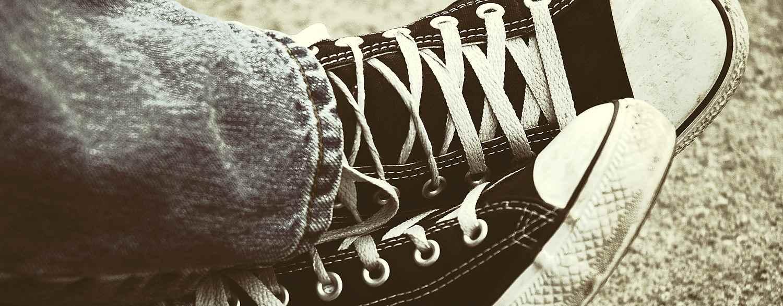 Teen Student in Sneakers