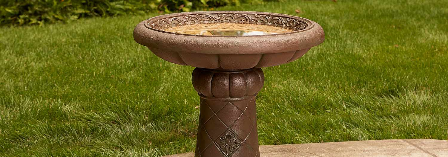 Add a Bird Bath & Other Decor