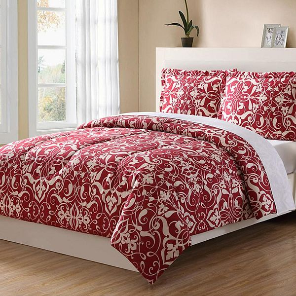 Cozy bedroom with a Colormate Filigree 3pc. Comforter Set