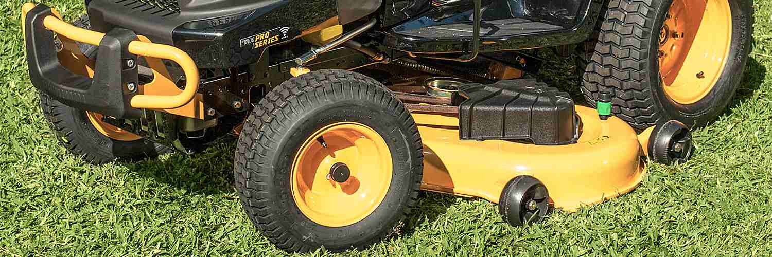 Riding mower tires
