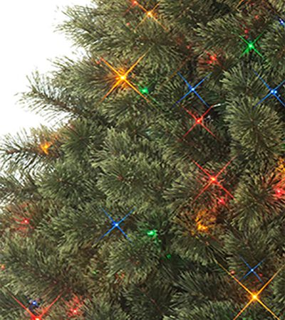 Pre-lit Christmas tree with multi-color lights