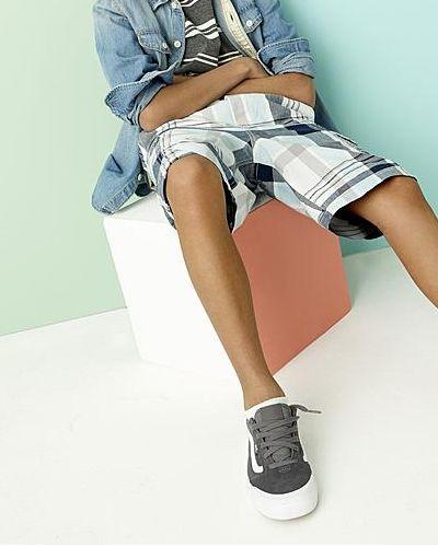 Boy in Simply Styled Boys' Plaid Cargo Shorts
