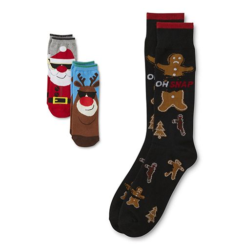 Kids' and men's holiday graphic socks