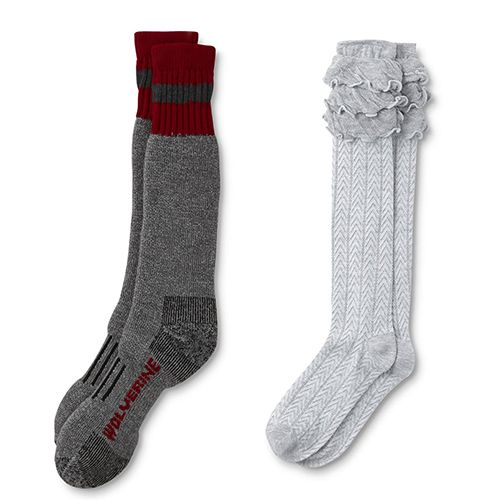 Comfy men's and women's holiday socks