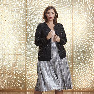 Jaclyn Smith Women's Plus Velour Skirt
