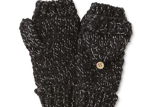 Women's Chunky Knit Flip-Top Mittens