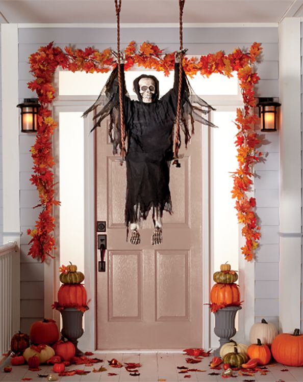 Front porch during Halloween