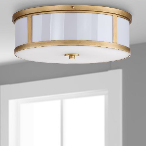 Light fixture hanging from ceiling