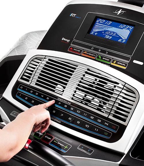 NordicTrack treadmill display screen