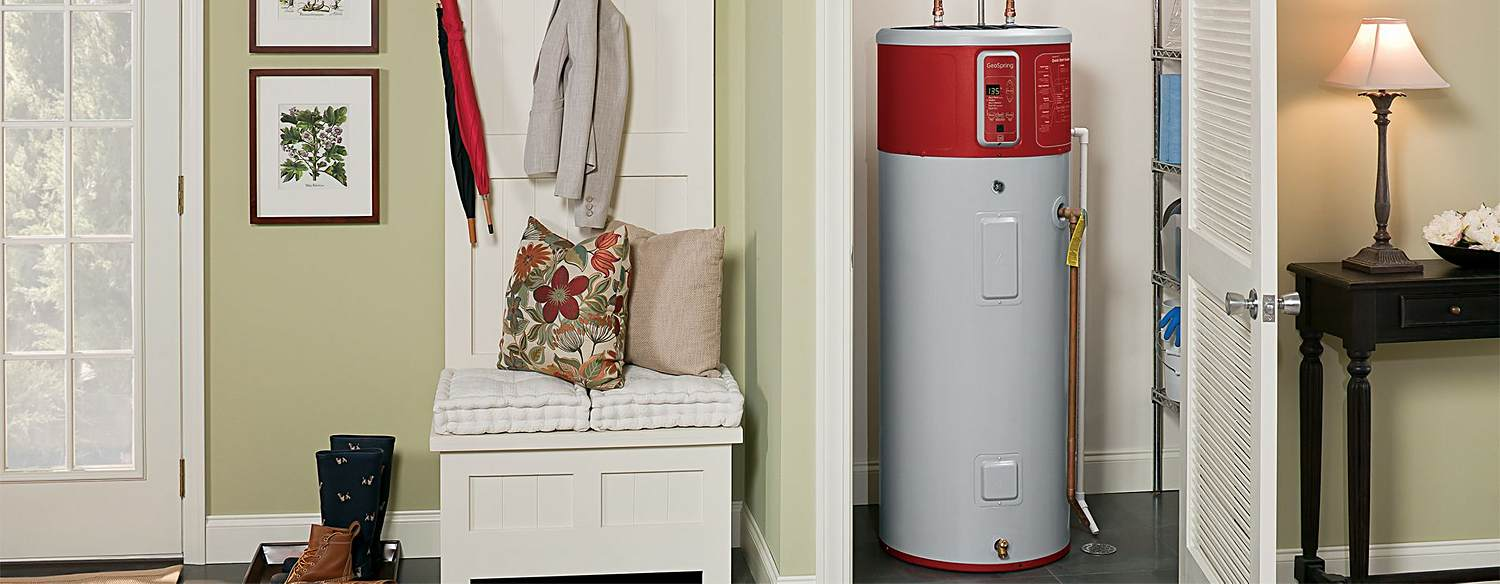 Hot water heater in home