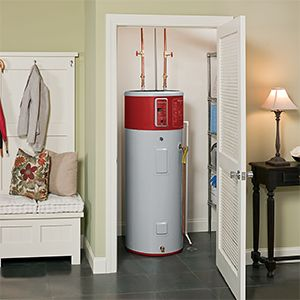 Water heater tank at home