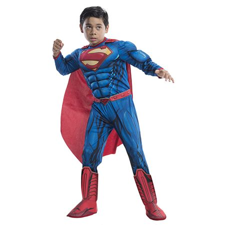 Boy in a Deluxe Superman Costume