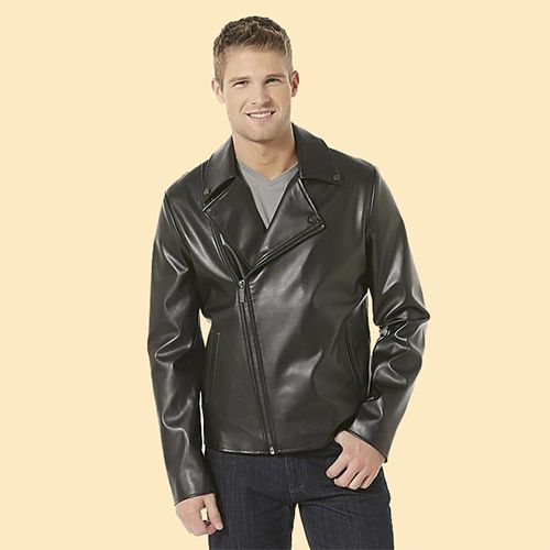 Man wearing a Structure Men's Moto Jacket