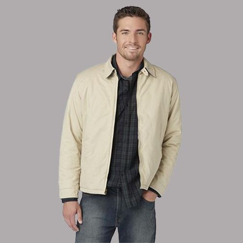 Man in a Simply Styled Men's Shirt Jacket