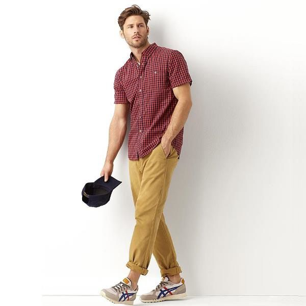 Simply Styled Men's Khaki Pants with an Oxford Shirt