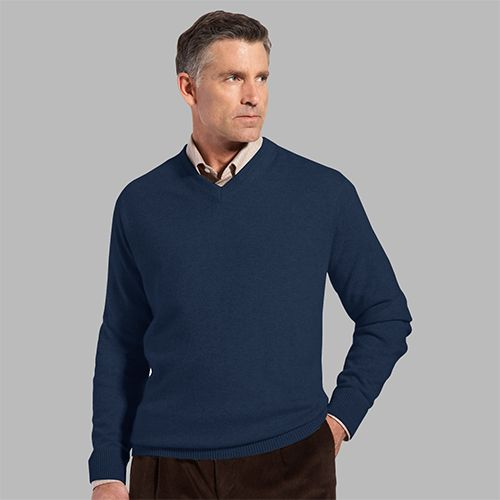 Man in a pullover sweater