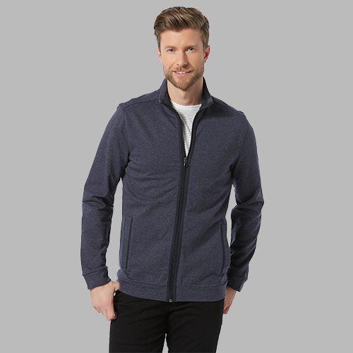 Man in a sweater jacket