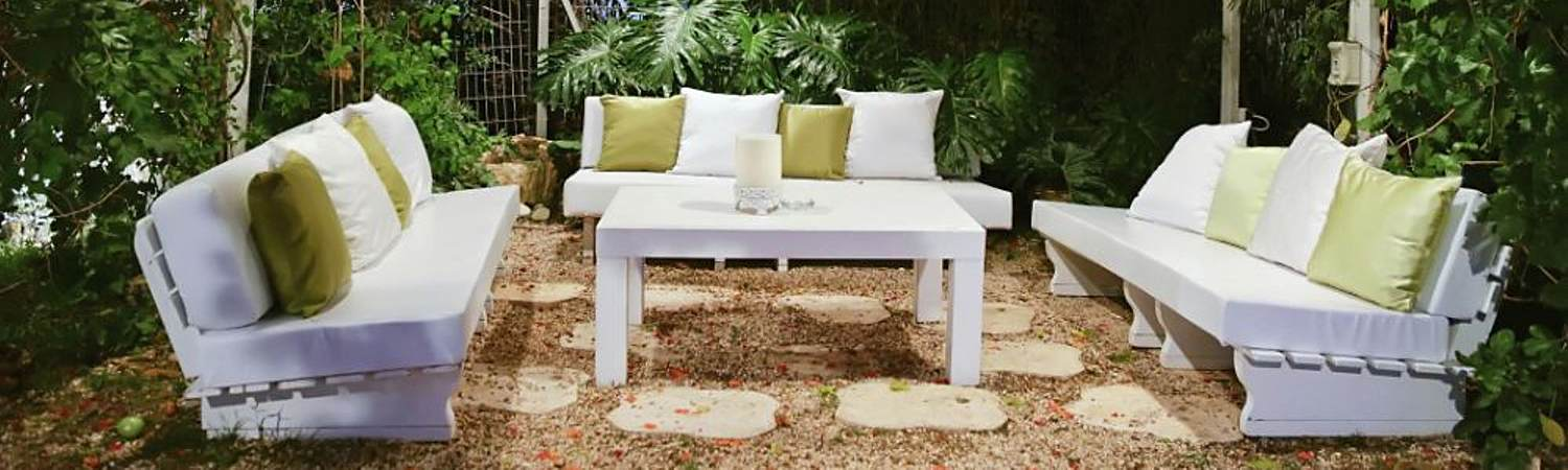 Outdoor Loveseats Under a Canopy