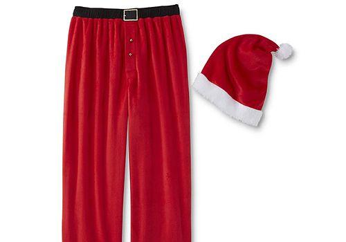 Men's Joe Boxer Santa PJ Pants & Hat