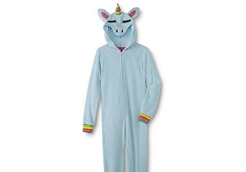 Women's Hooded One-Piece Unicorn PJs