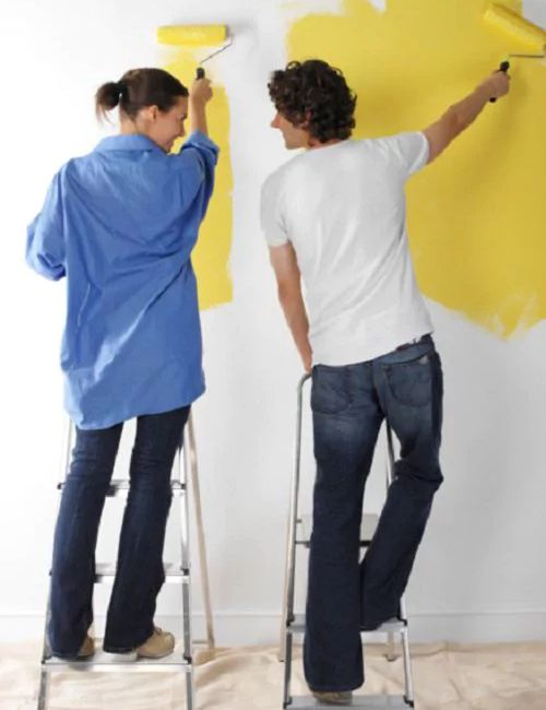 Use a paint roller to cover large areas