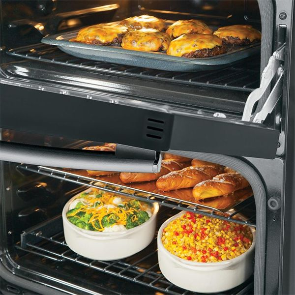 Double Oven - Opened Top Door, Closed Bottom Door