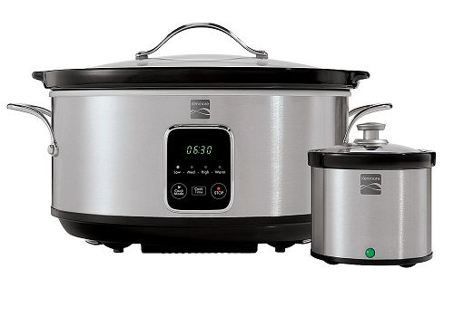 Kenmore 7 Qt. Stainless Steel Slow Cooker w/ Dipper