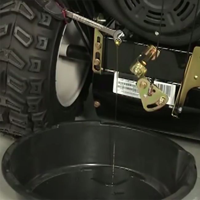 Changing a snowblower's oil
