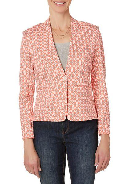 Simply Styled Petites' Geometric Ponte Knit Jacket