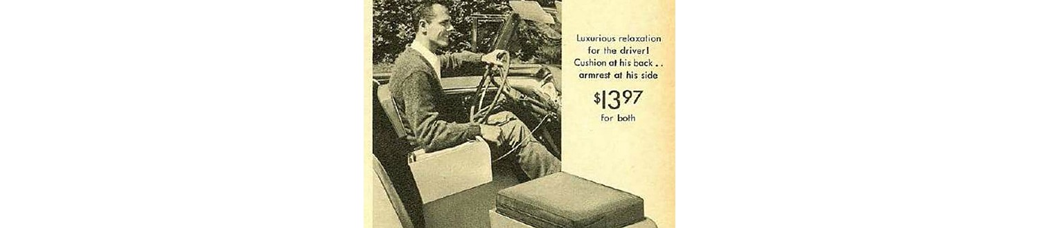 Vibrating car armrest in the 1958 Sears Christmas Book
