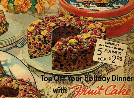fruit cake from Sears Christmas catalog 1937