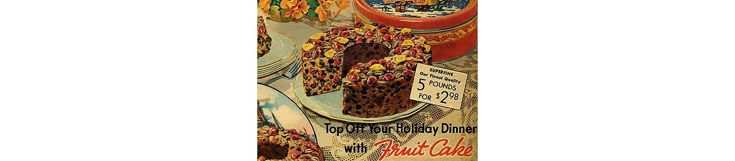 Fruit cake in the 1937 Sears Christmas Book